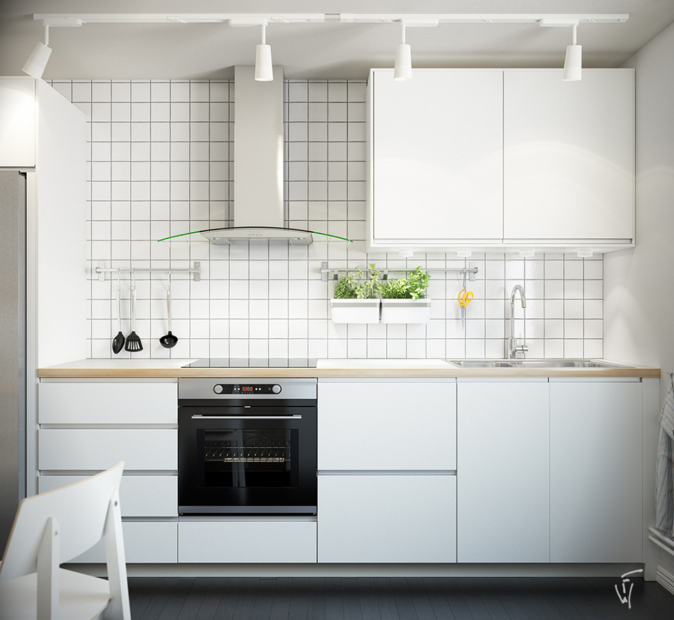 Kitchen Interior Perspective: FongWan Portfolio By Khai-Mang Quach : 3D
